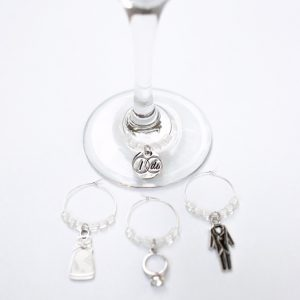 Wedding Wine Charms for the Bride & Groom