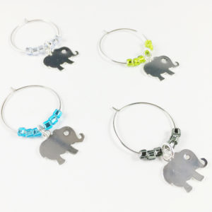 baby elephant wine charms, baby elephant shower decorations, elephant baby shower favors, baby shower party ideas