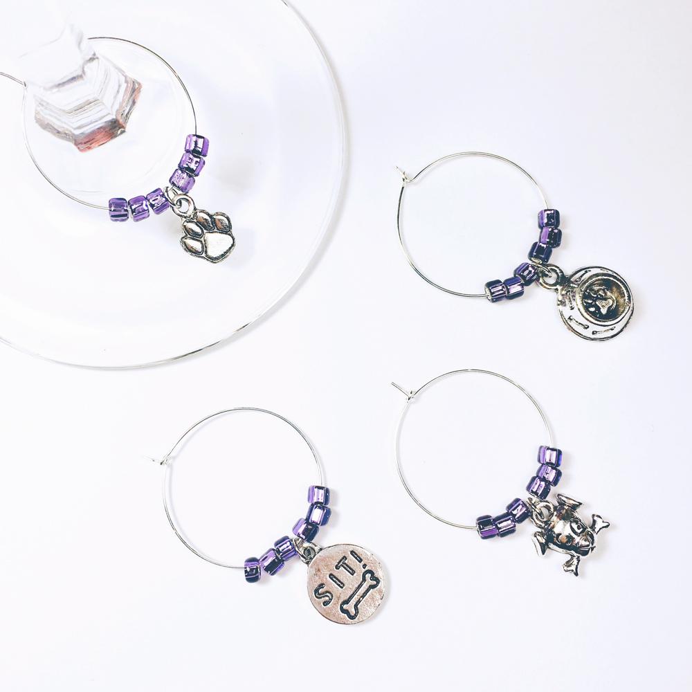Purple Dog Wine Charms WINE113ac
