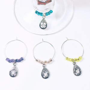 crystal wine charms, girls night out decor, bachelorette wine charms, bridal shower wine charms, bridal shower favor, bridal shower decor, wine gift for friend, diva wine charms