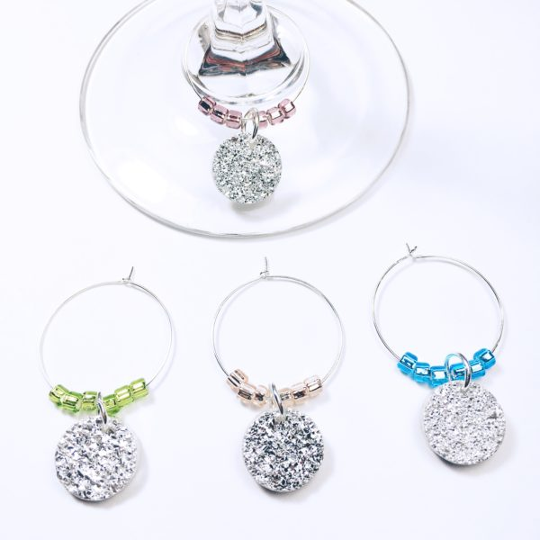 girls night out wine charms, girls night out decor, bachelorette wine charms, bridal shower wine charms, bridal shower favor