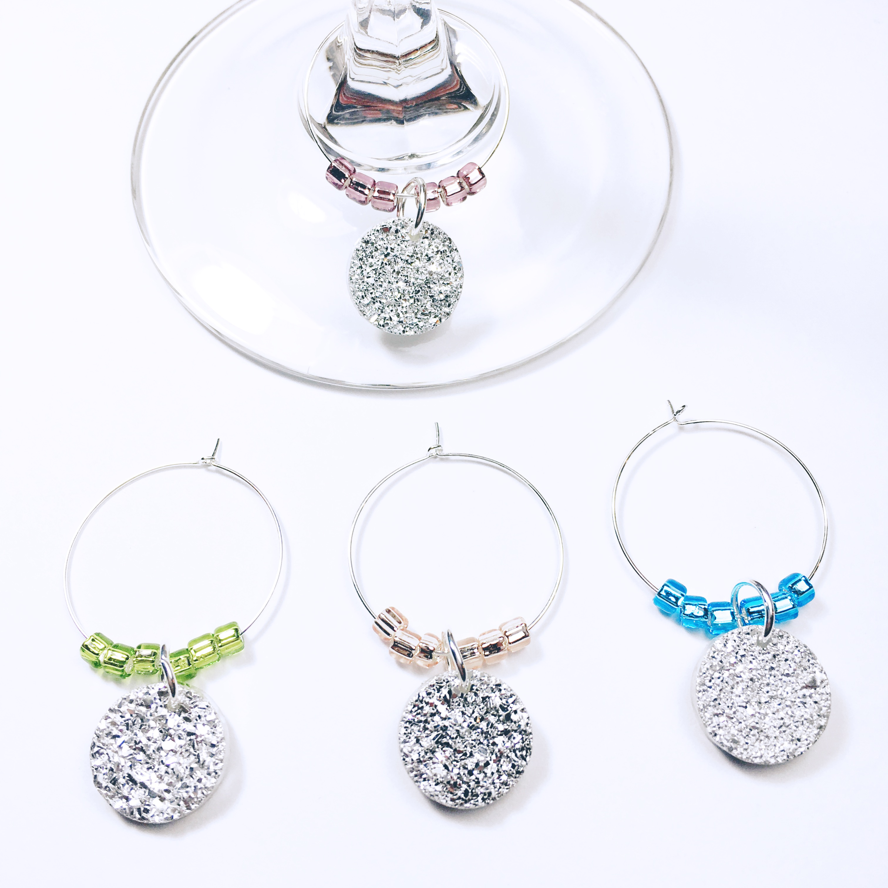 girls night out wine charms girls night out decor bachelorette wine charms bridal