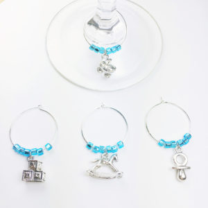 baby boy wine charms, baby shower party ideas, baby boy wine charms, baby boy wine charm set, unique baby boy shower gift, baby boy shower gift ideas, baby boy shower decoration ideas