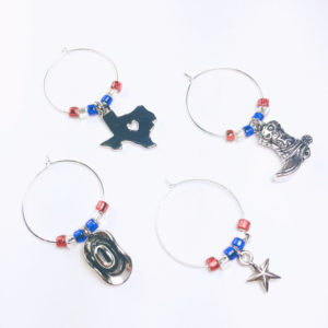 texas wine gift, texas wine charms