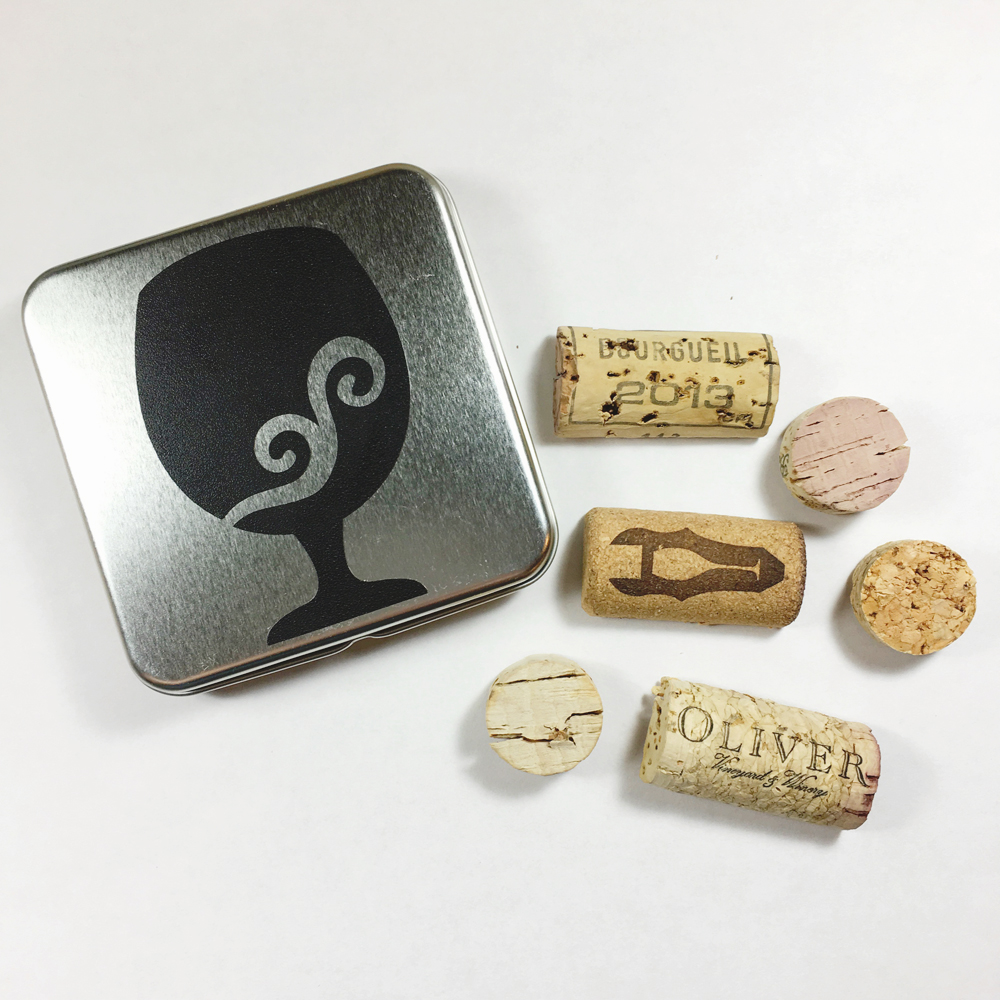 Recycled Cork Magnets WINE13a