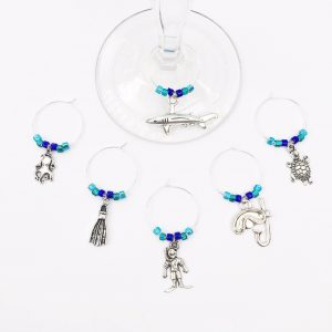 scuba diving wine charms
