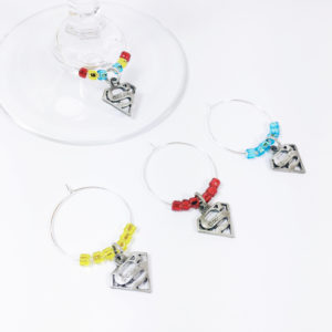 superman wine charms