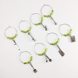cooking wine charms, gift for chef, gifts for cook, unique gifts for cooks, gift ideas for someone who likes to cook, gifts for cooking enthusiasts