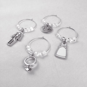 wedding wine charms, wine charms for weddings, wine charms for wedding shower, wedding shower decor ideas, bridal shower decor ideas
