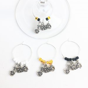motorcycle wine charms