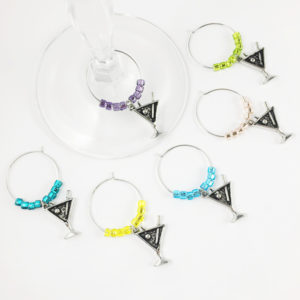 martini glass charms, cocktail glass charms, unique martini gifts, unique martini gift ideas, gift ideas for cocktail lovers, gift ideas for cocktail enthusiasts