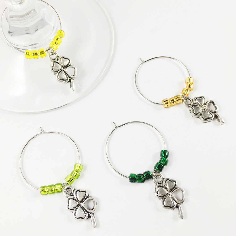 Lucky Clover Wine Charms WINE82ab