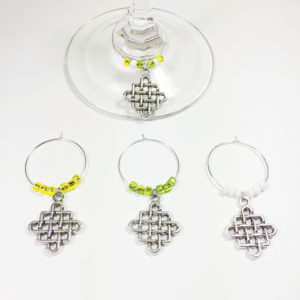 celtic wine charms, celtic party decorations