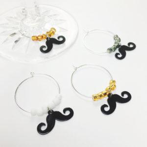 mustache wine charms, mustache decor, mustache party decor, mustache party favors, mustache party ideas