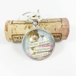 wine & happiness keychain, funny key chain, funny keychain, unique key chain, unique keychains, keychain favors