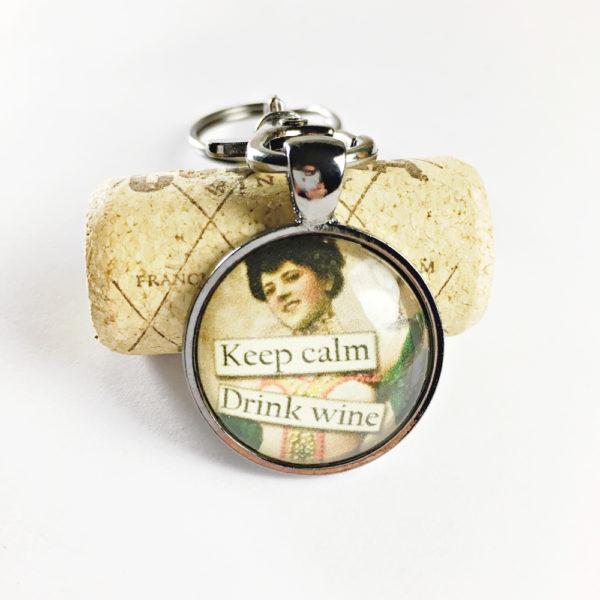 keep calm keychain, funny keychains, unique wine keychains, unique key chains, wine lover keychains, funny wine keychains