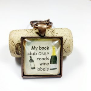 wine book club keychain, Book club gift ideas, book club party favor, book club keychains, book club keychain, book club gift exchange ideas, gifts for book club members
