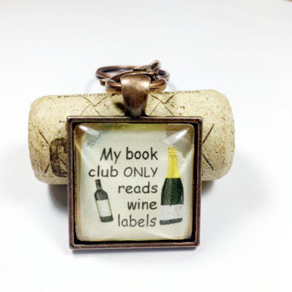 wine book club keychain, Book club gift ideas, book club party favor, book club keychains, book club keychain, book club gift exchange ideas, gifts for book club members