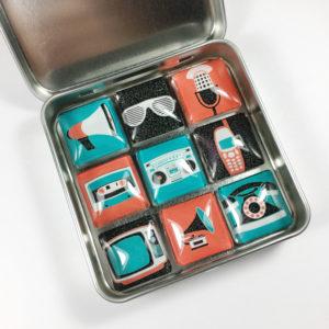 retro fridge magnets, vintage fridge magnets, cute magnets for fridge, fun fridge magnets,