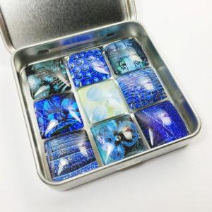 blue art magnets, magnets for fridge, fridge magnets online, fridge magnet sets, office magnets, fun magnets for office, small decorative magnets