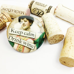 keep calm wine magnet, funny refrigerator magnet, unique gift for wine lover, large refrigerator magnet, gift for wine lover, funny fridge magnet