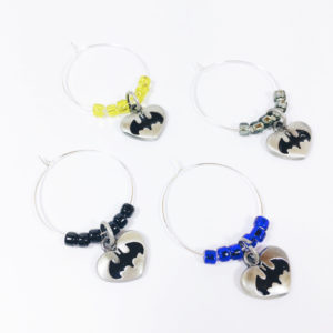 batman wine charms