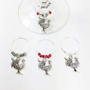 chicken wine charms, decorative chicken, chicken decor, chicken gifts, chicken gifts ideas, farmhouse kitchen decor