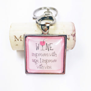 pink wine lovers keychain, silver key chains, best friend key chains, key chain favors, key chains for women, unique keychains, funny keychains