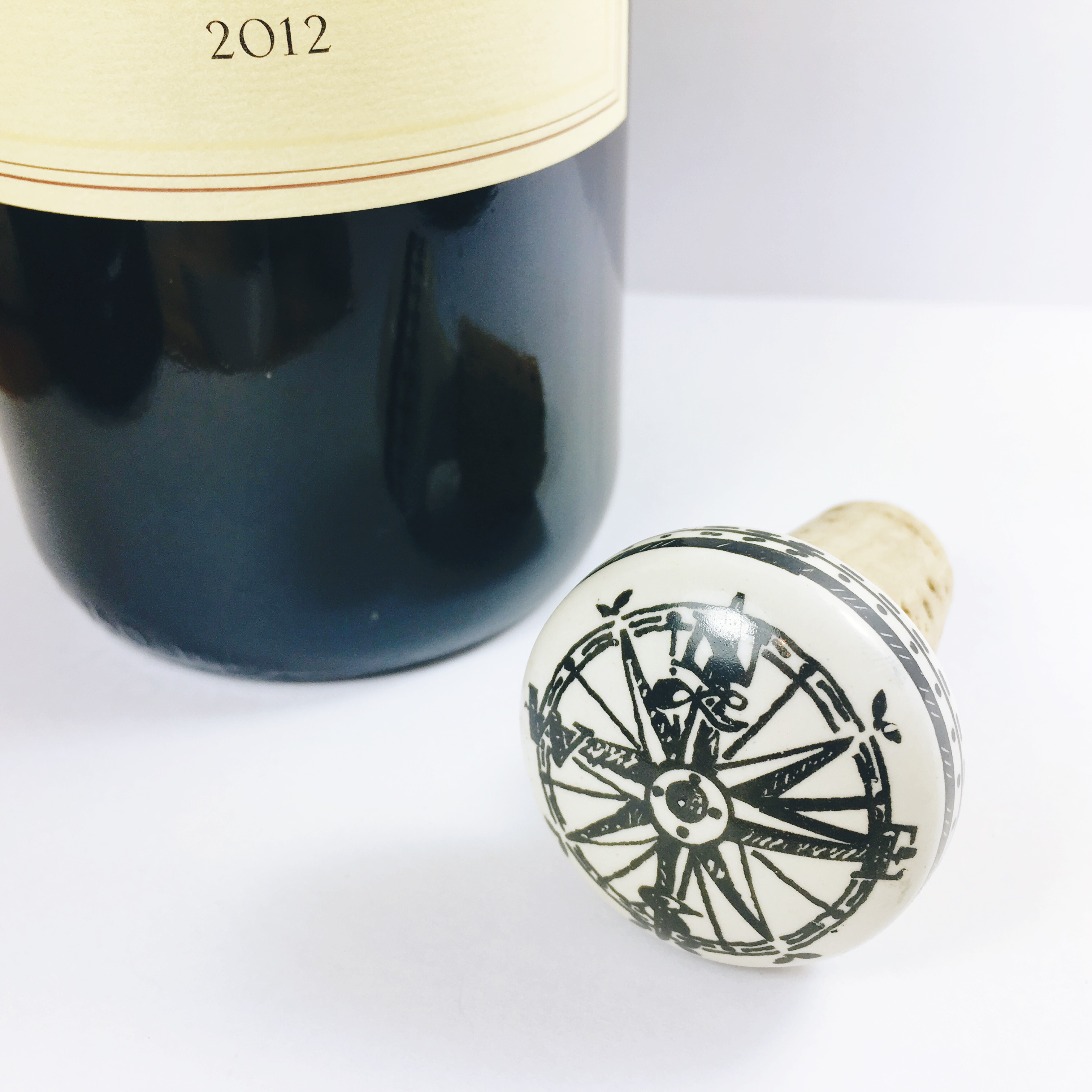 WSTP09e Compass Wine Bottle Stopper