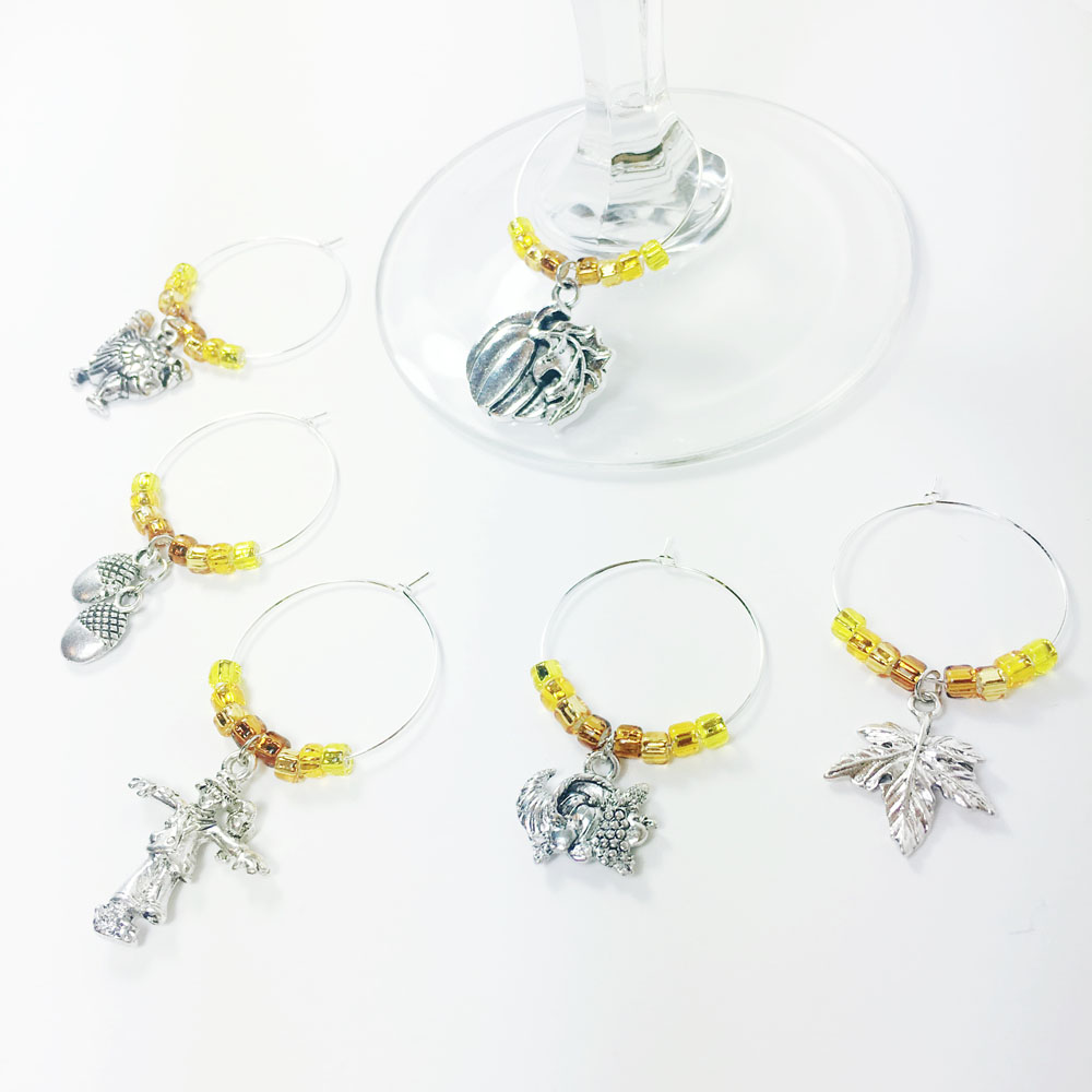 wine charms wine glass charms fall wine charms dinner table