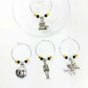 Halloween wine charms, set of 4