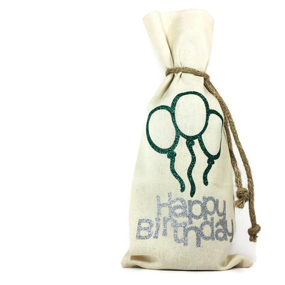WRAP05aw Happy Birthday Wine Bag