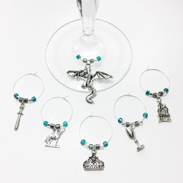 game of thrones wine charms