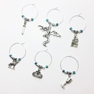game of thrones wine glass charms