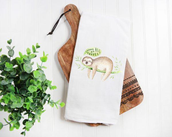 Sloth Kitchen Towel premium floursack towel