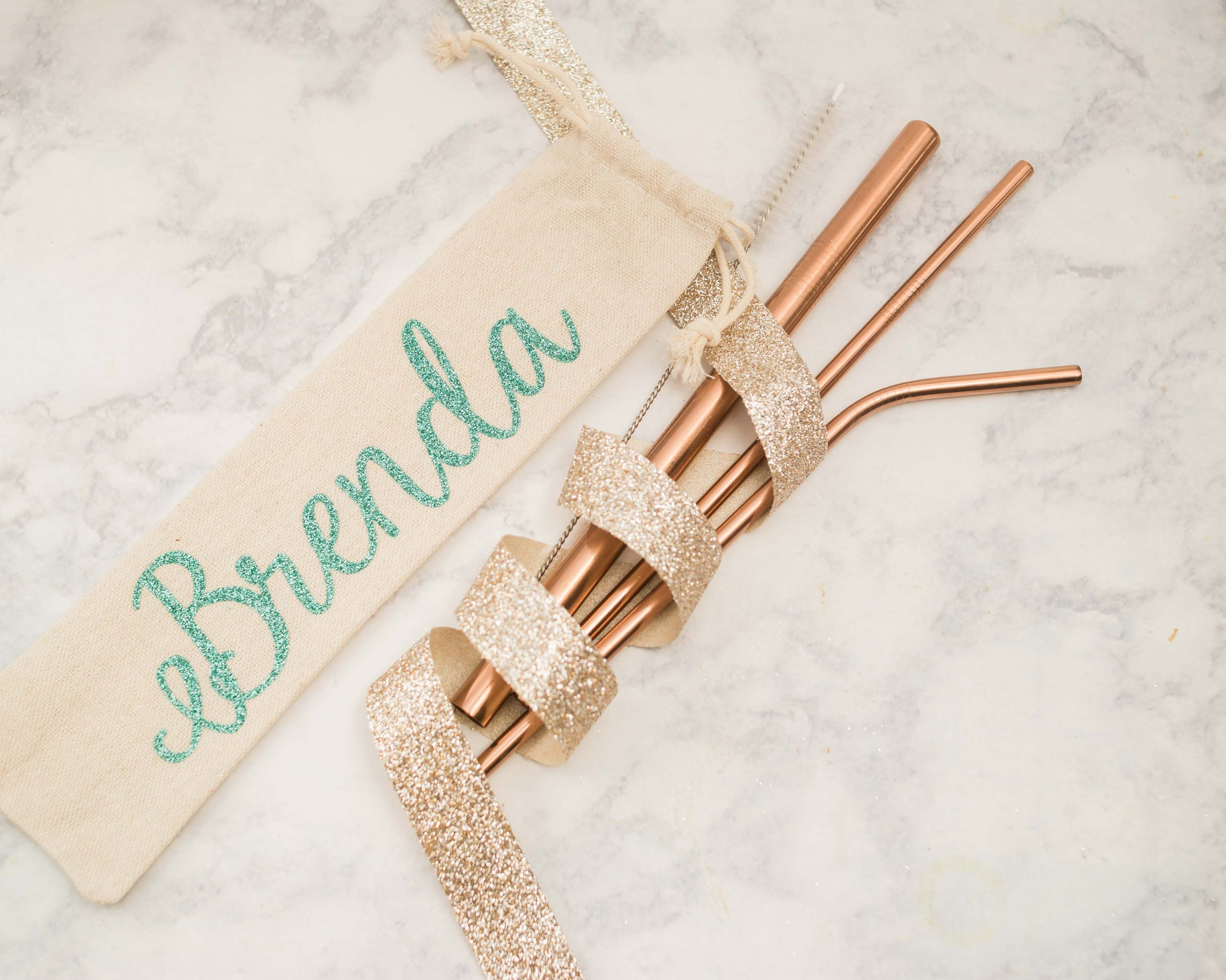 Rose Gold Drinking Straws by Group Therapy Wine