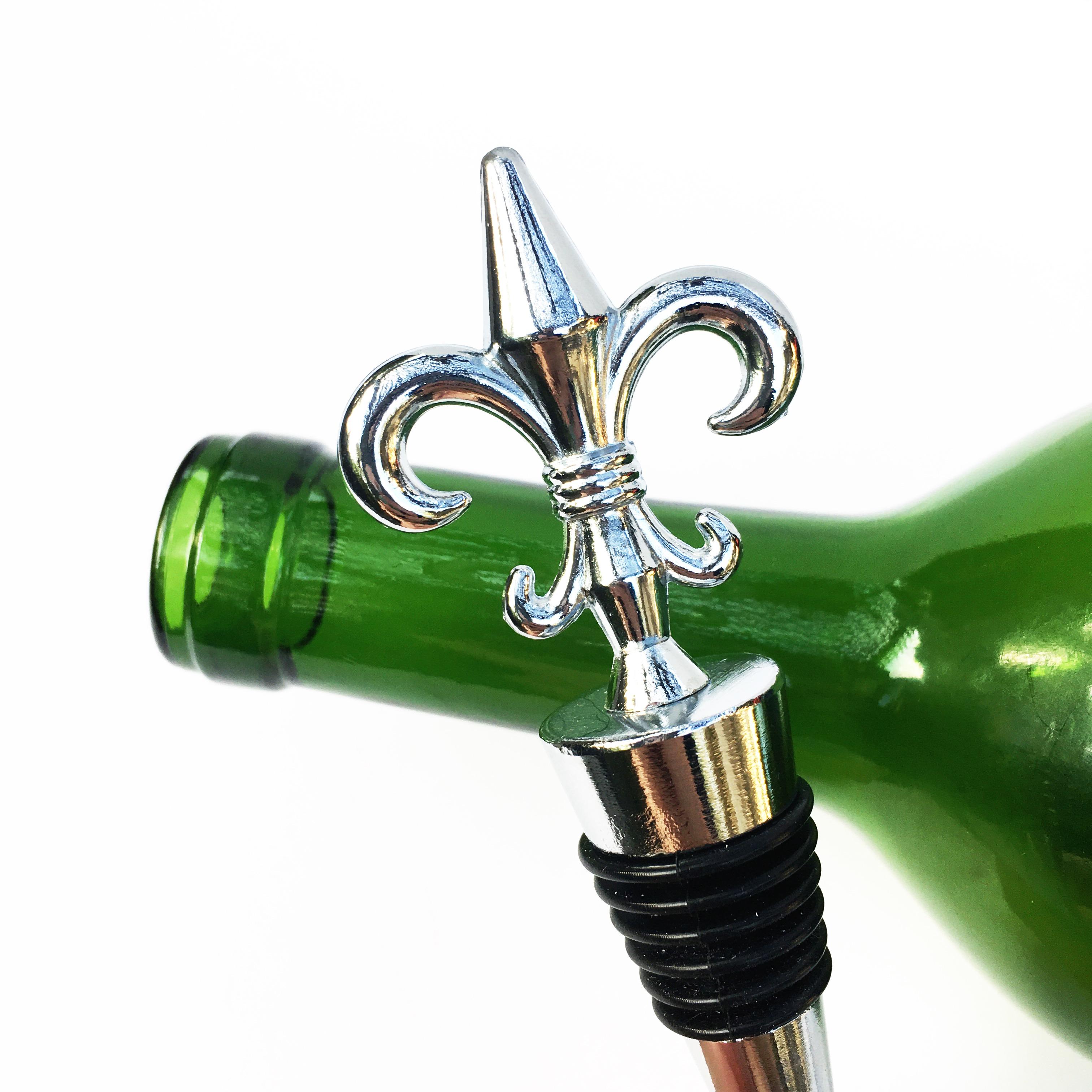 fleur de lis wine stopper WSTP22c