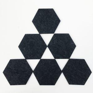 hexagon felt coasters