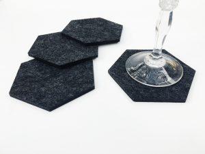 wool coaster set