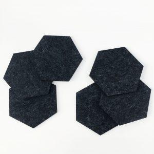 dark gray felt coasters