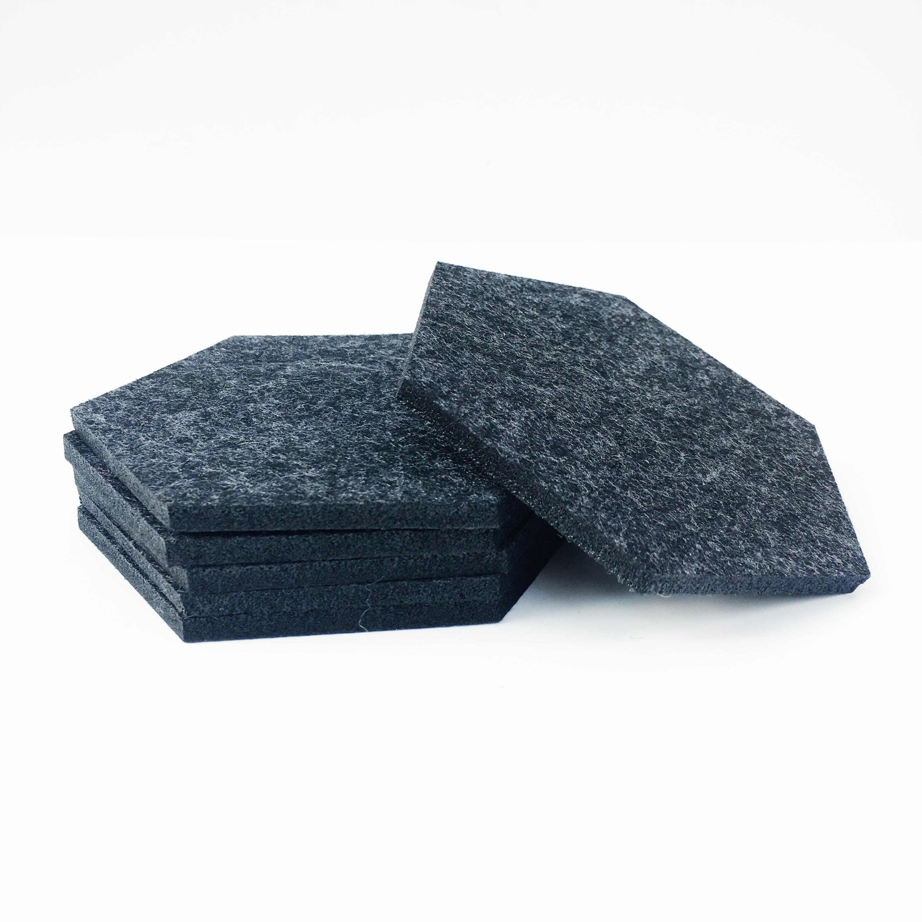 dark gray felt coasters COAS02k