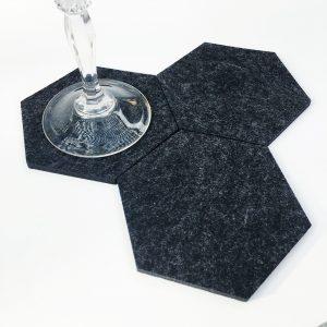 hexagon drink coasters