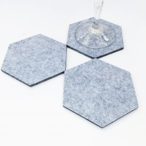 light gray felt coasters