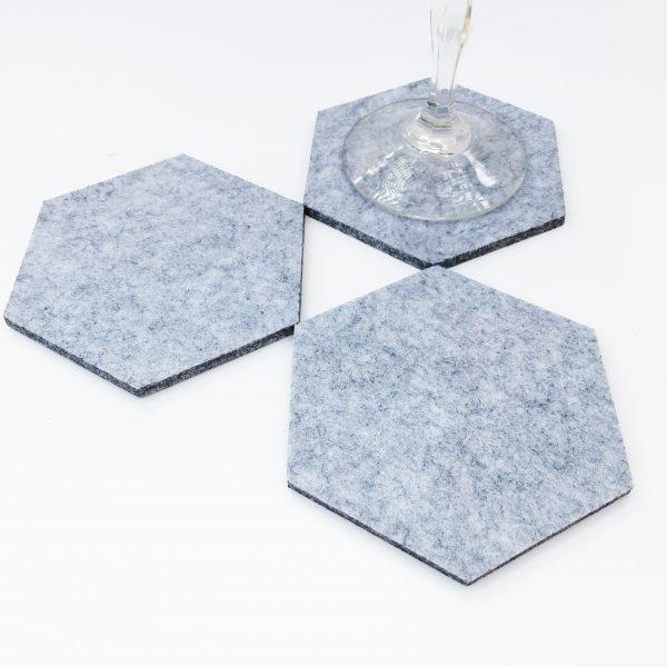 light gray felt coasters