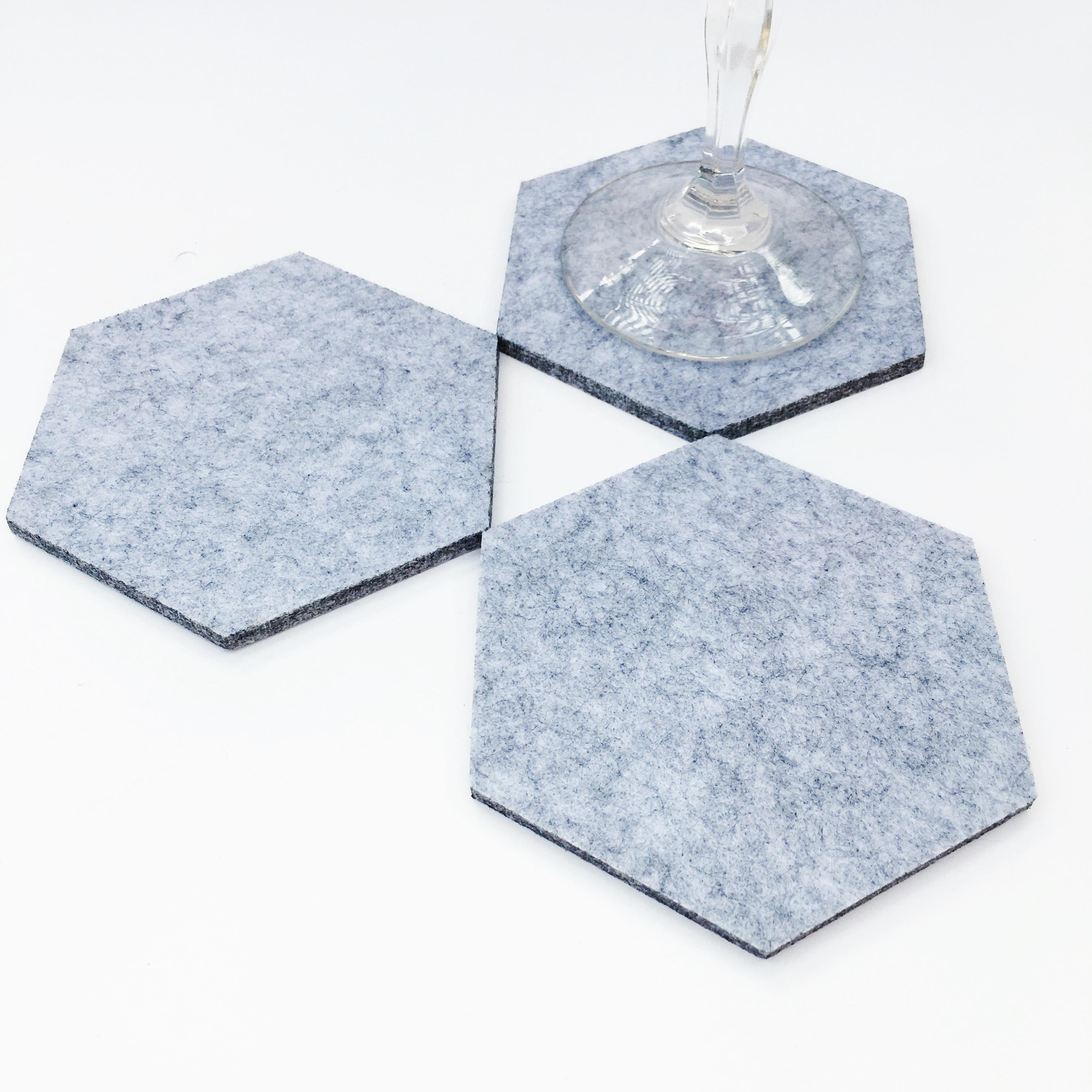 Light Gray Felt Coasters COAS03a
