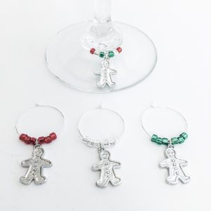christmas gingerbread wine charms