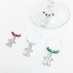 holiday table top wine charms