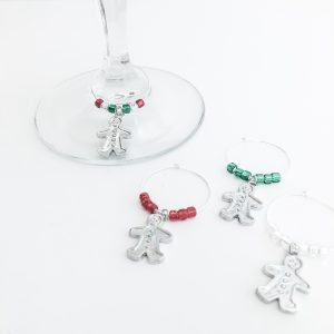 gingerbread wine charms for wine lover