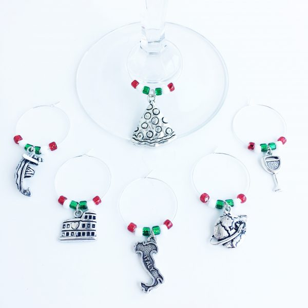 italy wine charms
