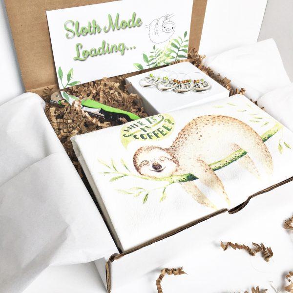 sloth lovers gift set